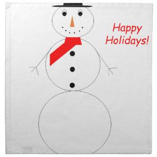 Happy Holidays Snowman Napkin