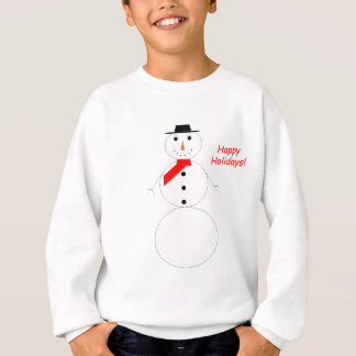 Happy Holidays Snowman Sweatshirt