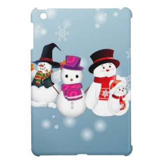 Happy Holidays Snowmen iPad Mini Cover