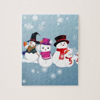 Happy Holidays Snowmen Jigsaw Puzzle