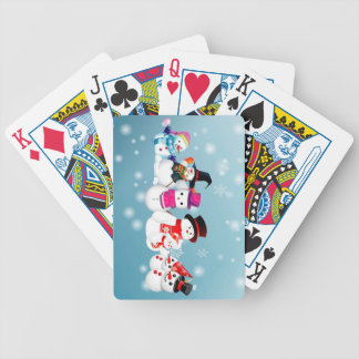 Happy Holidays Snowmen Poker Deck