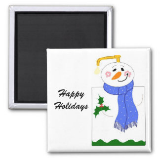 Happy Holidays Soap Pump Square Magnet