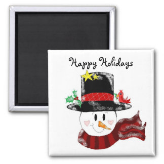 Happy Holidays Square Magnet