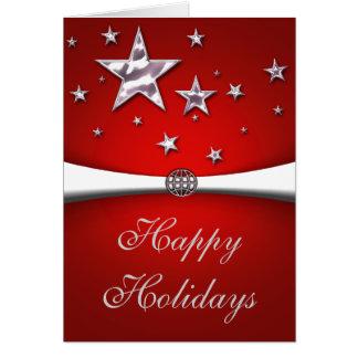 Happy Holidays Stars Christmas Card