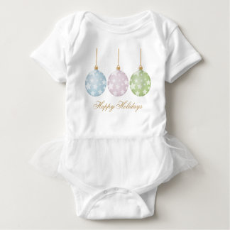 Happy Holidays Stars on Bulbs Baby Bodysuit