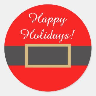 Happy Holidays Sticker. Classic Round Sticker