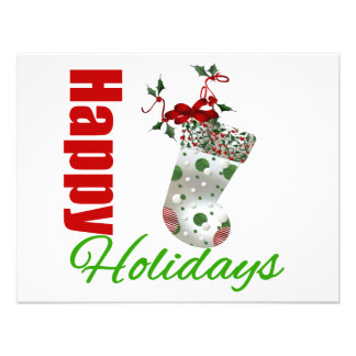 Happy Holidays Stocking Custom Invitation