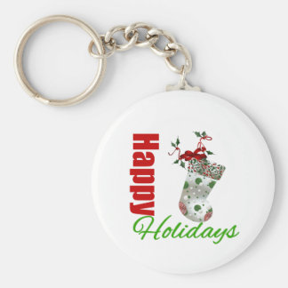 Happy Holidays Stocking Keychains
