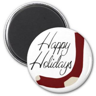 Happy Holidays Stocking Fridge Magnet