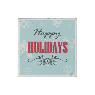 Happy Holidays Stone Magnet