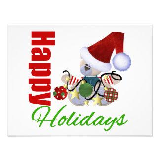 Happy Holidays Teddy Bear Personalized Invite