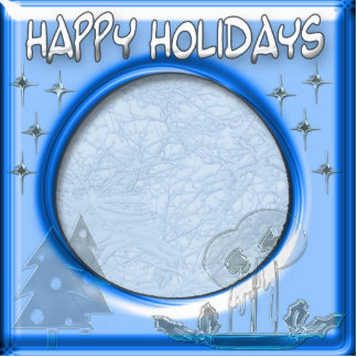 happy holidays template frame standing photo sculpture