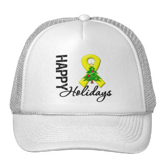 Happy Holidays Testicular Cancer Awareness Hat