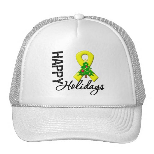 Happy Holidays Testicular Cancer Awareness Hat
