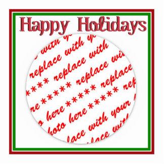 Happy Holidays Text Design Photo Frame Photo Cutouts