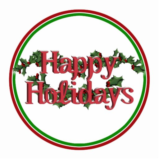 Happy Holidays Text Design Photo Cutout