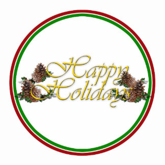Happy Holidays Text Design Standing Photo Sculpture