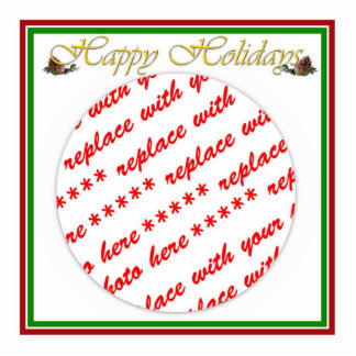 Happy Holidays Text Design with Pine Cones Acrylic Cut Out