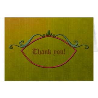 Happy Holidays Thank You Note Note Card