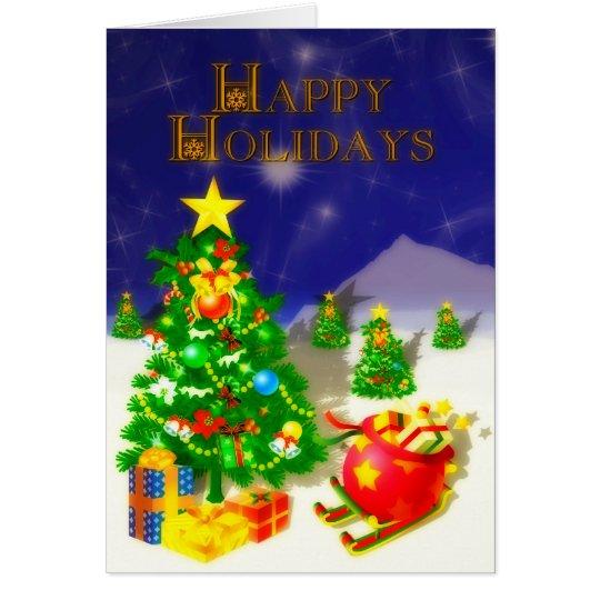 Happy Holidays Three Card