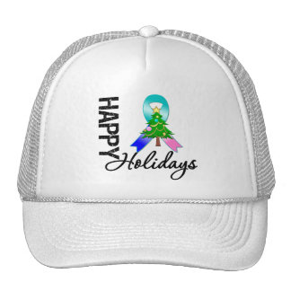 Happy Holidays Thyroid Cancer Awareness Hat