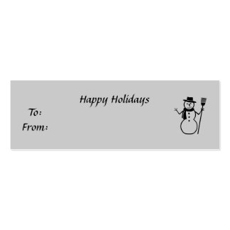 Happy Holidays, To:From:, y Business Cards