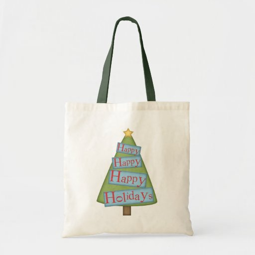 Happy Holidays Tree Gift Bag