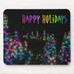 Happy Holidays Tree Lights Mousepad