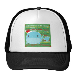 Happy Holidays Whale Cap