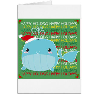 Happy Holidays Whale Card