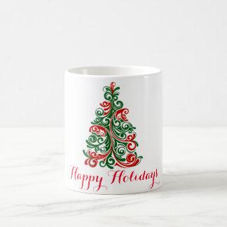 HAPPY HOLIDAYS WHITE CLASSIC COFFEE MUG