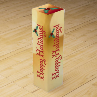 Happy Holidays Wine Gift Box