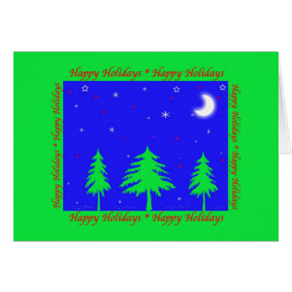 Happy Holidays Winter Scene Card