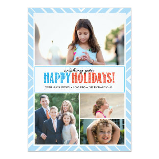 Happy Holidays Wishes x4 Card