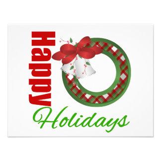 Happy Holidays Wreath Invitation