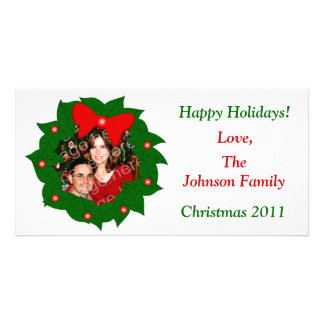 Happy Holidays! Wreath Photo Card