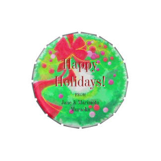 Happy Holidays Wreath Traditional Holidays Candy Candy Tins