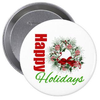 Happy Holidays Wreath v2 Pins