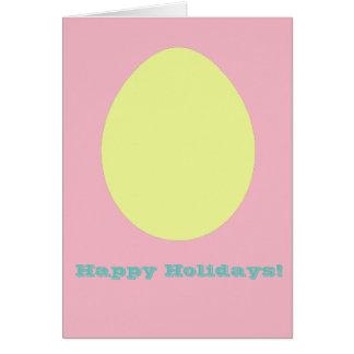 Happy Holidays Yellow Egg Greeting Card