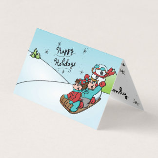 Happy HolidayZ Snowman Folding Card