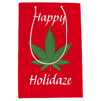 Happy Holidaze Personalized Medium Gift Bag