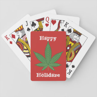 Happy Holidaze Playing Cards