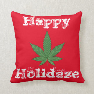 Happy Holidaze Throw Pillow