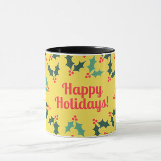 happy holliday mug