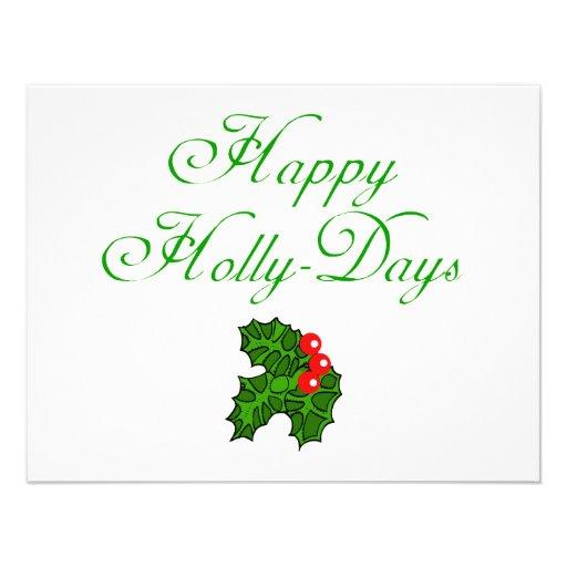 Happy Holly Days Apparel, Stocking Stuffers Invitations