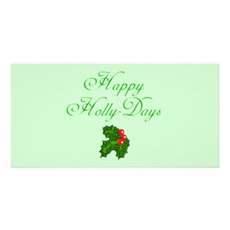 Happy Holly Days Apparel, Stocking Stuffers Photo Greeting Card