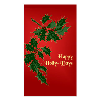 Happy Holly-Days Christmas Gift Tags Pack Of Standard Business Cards