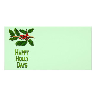 Happy Holly Days Photo Card Template