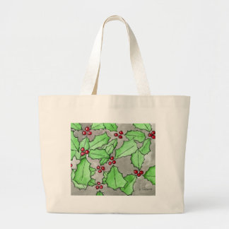 Happy Holly Daze 1 Jumbo Tote Bag