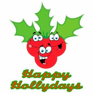 happy hollydays holidays cute holly berries acrylic cut out